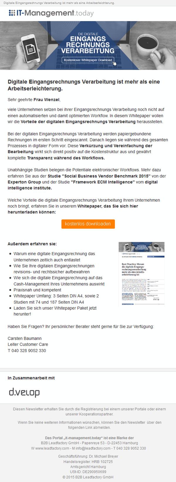 Kampagne_Mailing_Studie_Die digitale Eingangsrechnungsverarbeitung