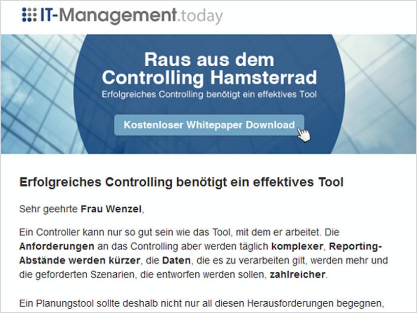 kampagne_mailing_prevero_Erfolgreiches Controlling benötigt ein effektives Tool