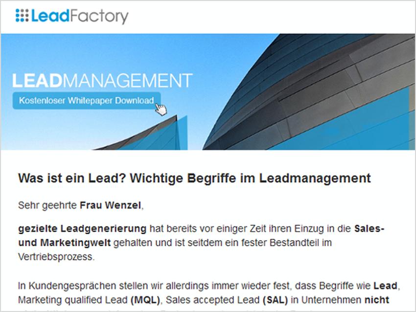 leadmanagement 2 mailing vorschau