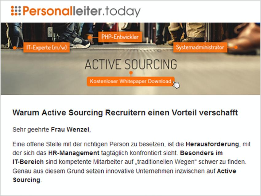 Mailing_Monster_Warum Active Sourcing Recruitern einen Vorteil verschafft