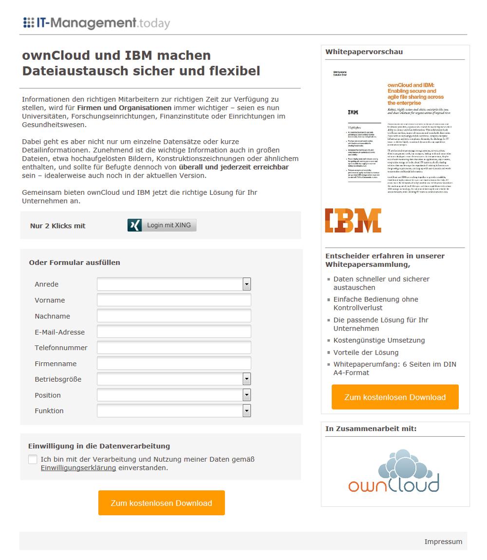 Referenzkampagne_Landingpage_ownCloud_IBM_ownCloud und IBM machen Dateiaustausch sicher und flexibel