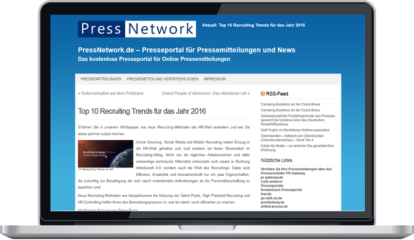 "Pressemitteilung ""Top 10 Recruiting Trends"""