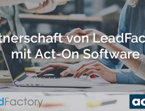 Leadfactory und Act-On schliessen Partnerschaft