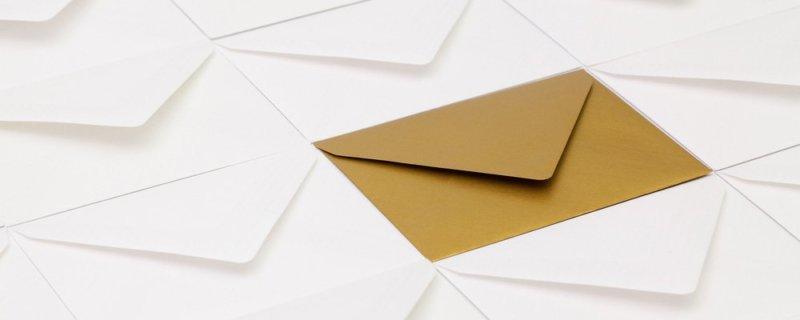 Goldener Briefumschlag