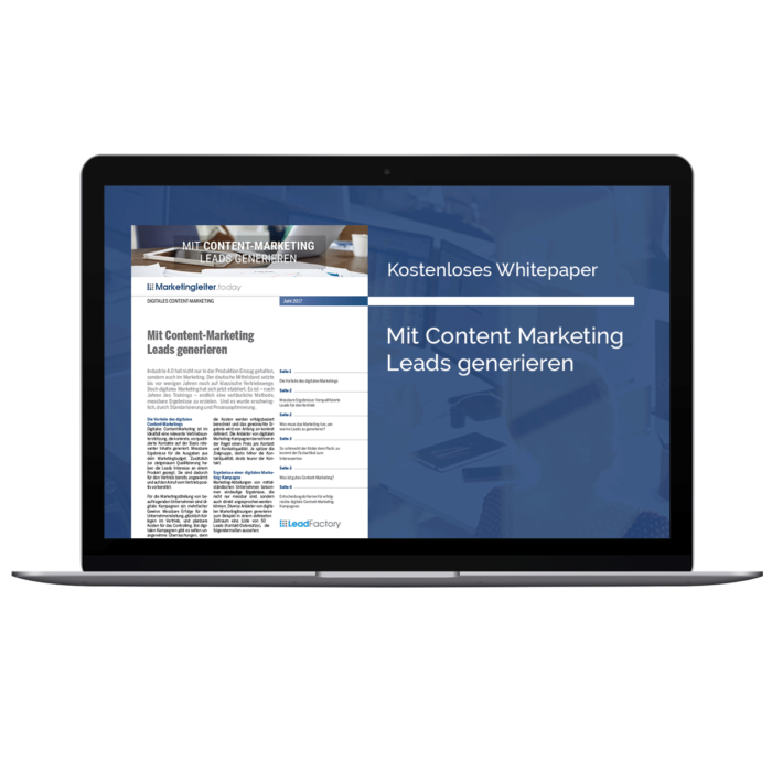 Generate basic lead, event lead, whitepaper lead