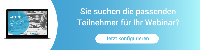 Webinarlead Werbung