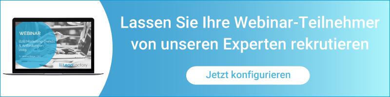 Webinarlead-Werbung