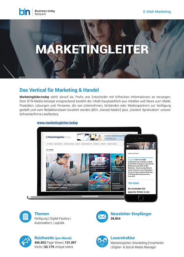 Mailing Spezifikationen Marketingleiter.today
