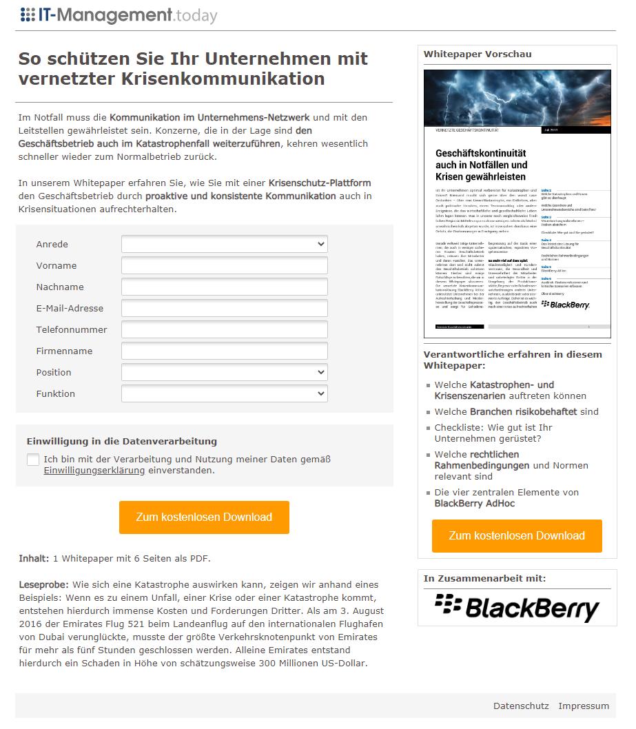 Leadkampagne_Blackberry_So schützen Sie Ihr Unternehmen mit vernetzter Krisenkommunikation