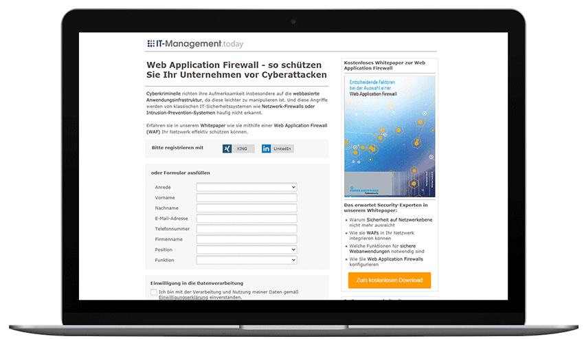 Mockup_Laptop_RohdeundSchwarz Web Application Firewall