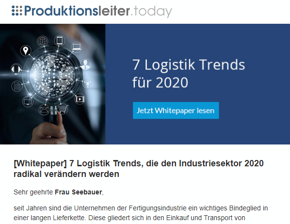 Referenz_Mailing_Logystix_Logistik Trends