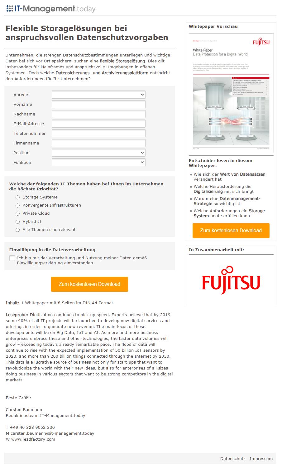 Referenzkampagne_Landingpage_Fujitsu_Flexible Storagelösungen bei anspruchsvollen Datenschutzvorgaben