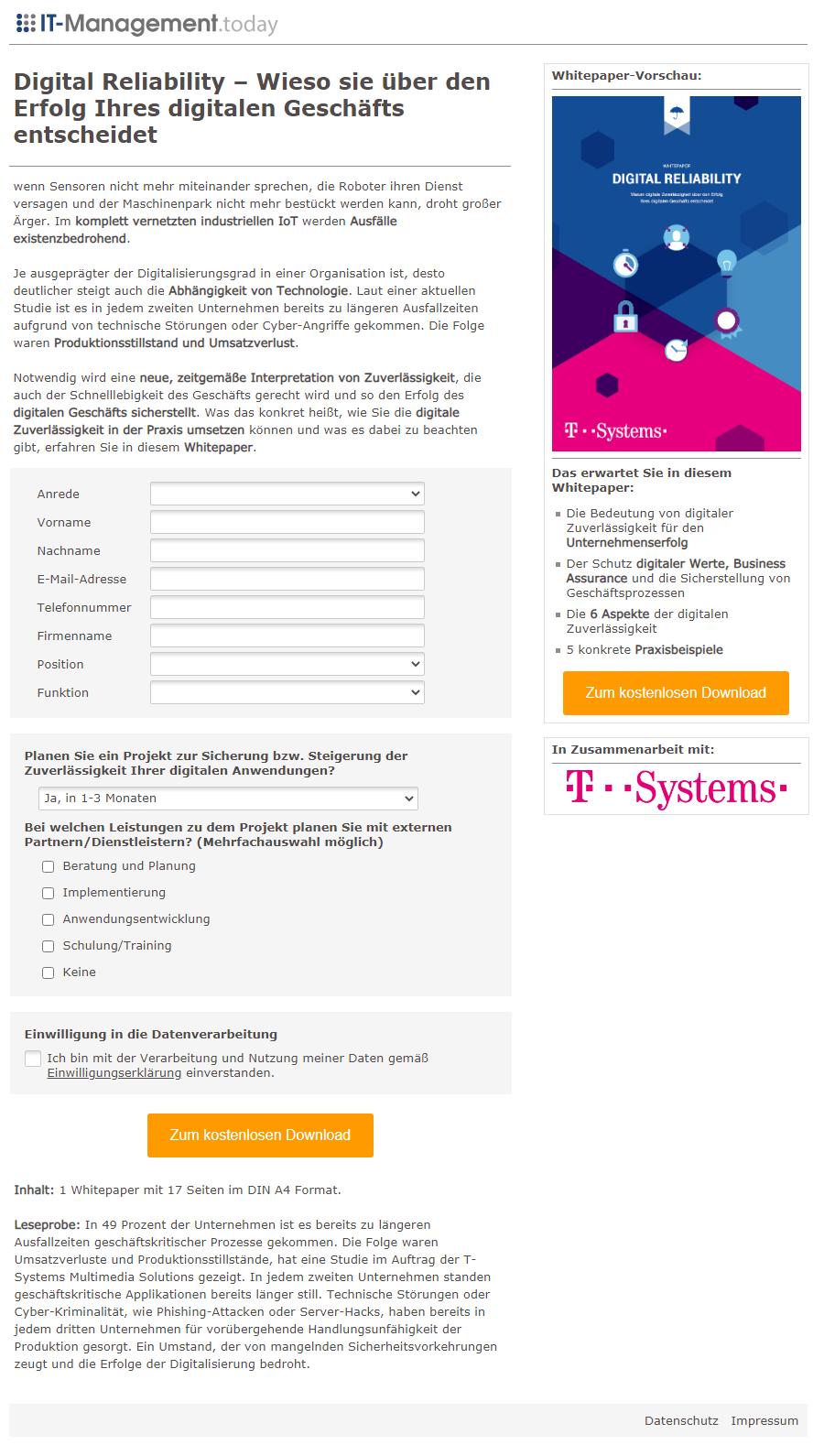 Referenzkampagne_Landingpage_T-Sytems_Digital Reliability